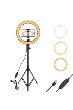 Havana Ring Light 33cm Led Işık Selfie Youtuber 2.1m Tripod Stüdyo Işığı 2