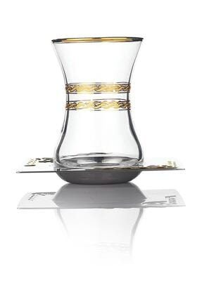 Schafer Mittag Çelik Çay Seti - 40 Parça - Altın 2