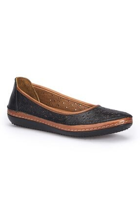 109677 Hakiki Deri Confort Bayan Ayakkabısı resmi