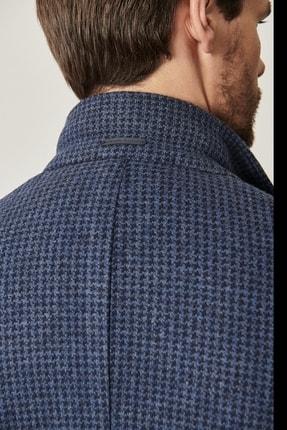 Altınyıldız Classics Erkek Lacivert Slim Fit Desenli Ceket 4