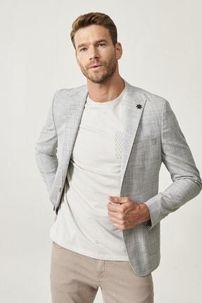 Altınyıldız Classics Erkek Haki Slim Fit Desenli Ceket 0