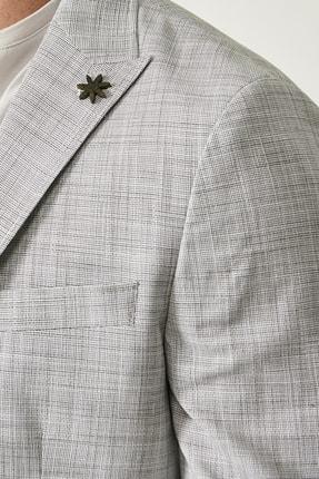 Altınyıldız Classics Erkek Haki Slim Fit Desenli Ceket 4