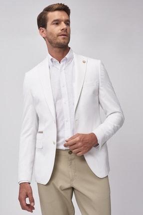 Altınyıldız Classics Erkek Beyaz Slim Fit Ceket 1