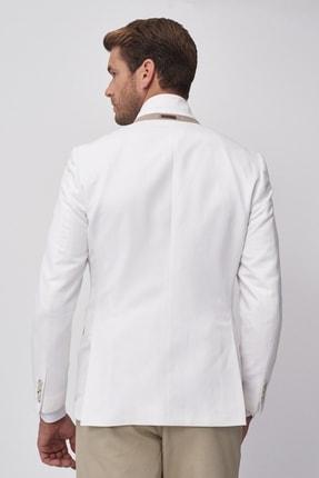 Altınyıldız Classics Erkek Beyaz Slim Fit Ceket 3