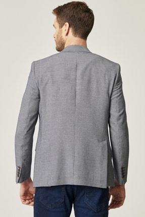 Altınyıldız Classics Erkek Lacivert Regular Fit Desenli Ceket 3
