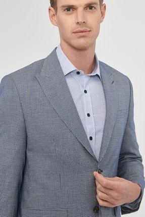 Altınyıldız Classics Erkek Lacivert Regular Fit Desenli Ceket 4