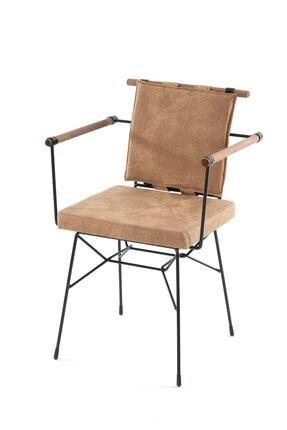 Sesa Home Ahşap Kollu Penyez Sandalye Cappuccino 2
