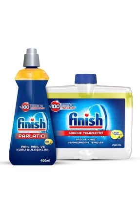 Finish Bulaşık Makinesi Temizleyici Sıvı 250 ml Limon + Parlatıcı 400 ml Limon 1