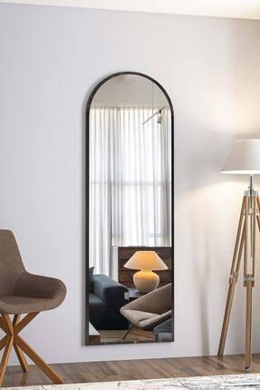 bluecape Dev Boy  Siyah Mermer Desenli Salon Ofis Mutfak Çocuk Odası Duvar Konsol Boy Aynası 180cm 0