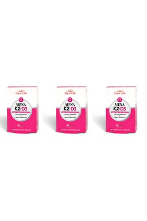 New Life Mena K2+d3 Natural Vitamin 30 Kapsül 3'lü Paket 0