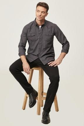 Altınyıldız Classics Erkek Siyah 360 Derece Her Yöne Esneyen Rahat Slim Fit Pantolon 4
