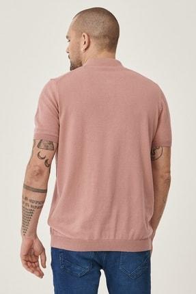 Altınyıldız Classics Erkek Gül Kurusu Slim Fit Polo Yaka Kısa Kollu %100 Koton Triko Tişört 3