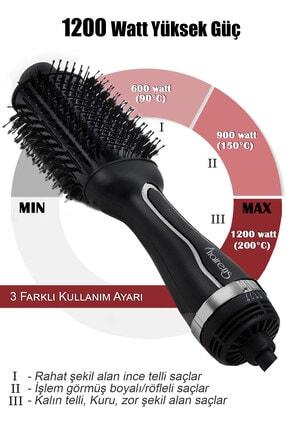 Hairens Hrs-800 Iyonik Hacimlendirici Saç Kurutma Fırçası & Saç Düzleştirici & Saç Kurutma Makinesi 1200watt 2
