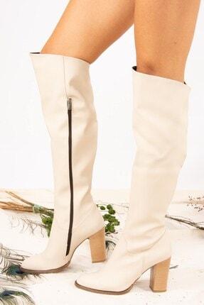 Fox Shoes Bej Kadın Çizme A654018009 1