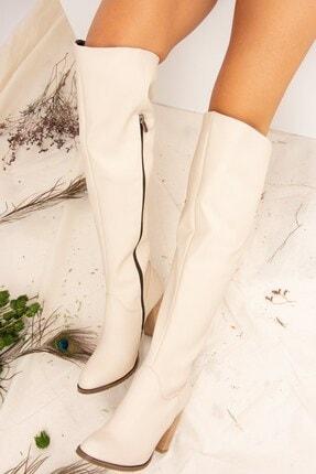 Fox Shoes Bej Kadın Çizme A654018009 2