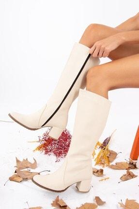 Fox Shoes Bej Kadın Çizme A654252709 1