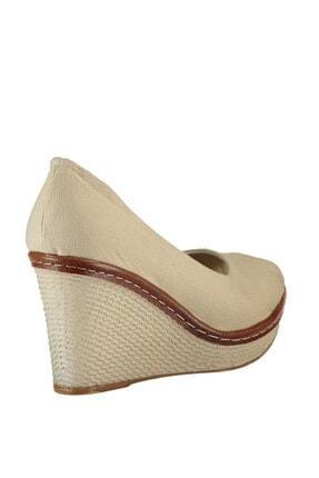 Fox Shoes Bej Kadın Dolgu 9674040305 4
