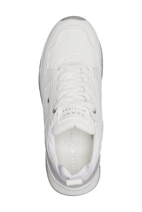 Tommy Hilfiger Kadın Beyaz Sneaker Sporty Chunky Deri Sneaker FW0FW05287 3