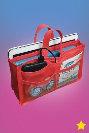MİA Home Production Makyaj Ve Çok Amaçlı Kırmızı Çanta Içi Düzenleyeyici  Organizer 0