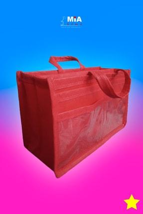 MİA Home Production Makyaj Ve Çok Amaçlı Kırmızı Çanta Içi Düzenleyeyici  Organizer 3