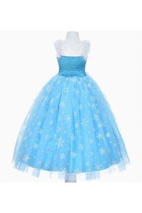 SÜSLÜ KİDS Kız Çocuk Mavi Frozen Elsa Elbise 1
