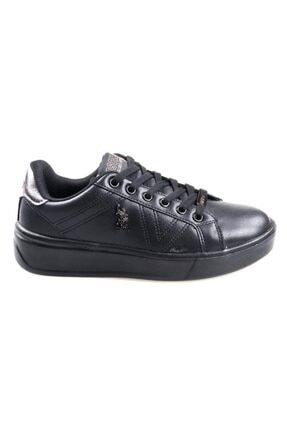 US Polo Assn Unisex Çocuk Siyah Extra Sneaker Spor Ayakkabı 1