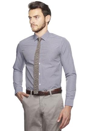 Altınyıldız Classics Erkek Mor-beyaz Slim Fit Desenli Gömlek 2