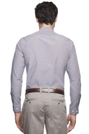 Altınyıldız Classics Erkek Mor-beyaz Slim Fit Desenli Gömlek 3