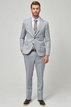 تصویر از Erkek Açık Mavi Ekstra Slim Fit Yelekli Nano Takım Elbise