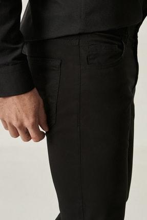 Altınyıldız Classics Erkek Siyah Kanvas Slim Fit Dar Kesim %100 Koton 5 Cep Pantolon 1