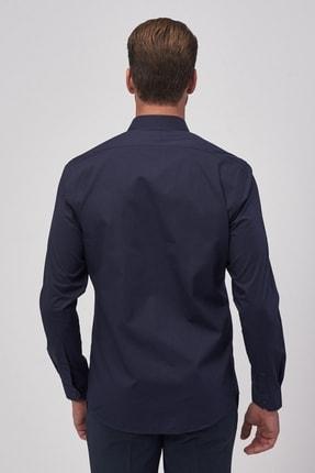 Altınyıldız Classics Erkek Koyu Lacivert Tailored Slim Fit Klasik Gömlek 2