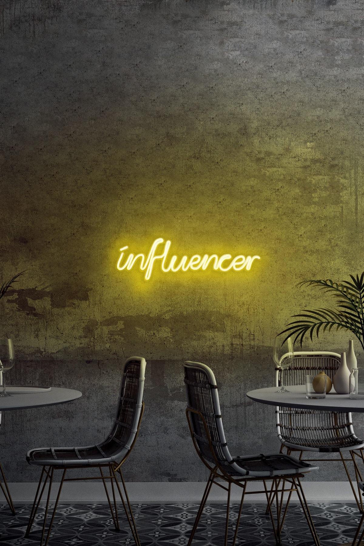 neon graph - Influencer - Led Dekoratif Duvar Aydınlatması Neon Duvar Yazısı Sihirli Led Mesajlar - Neongraph