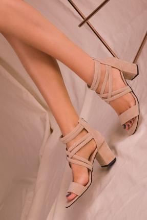 Soho Exclusive Ten Süet Kadın Klasik Topuklu Ayakkabı 14670 1