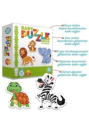 ERKOL OYUNCAK 28 Parça Circle Toys Baby Puzzle Seti 12 Adet Orman Hayvanları 1