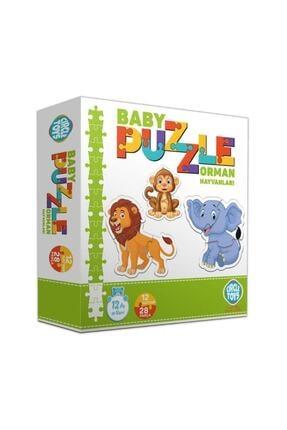 ERKOL OYUNCAK 28 Parça Circle Toys Baby Puzzle Seti 12 Adet Orman Hayvanları 2