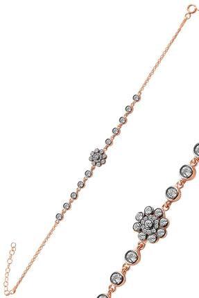 Söğütlü Silver Gümüş Rose Zirkon Taşlı Elmas Montürlü Bileklik. 0