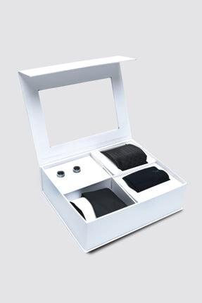 D'S Damat Standart Kravat Mendil Kol Düğmesi Çorap Aksesuar Setleri 0