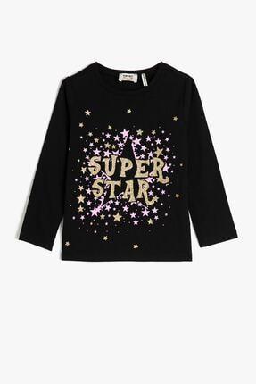 Koton Siyah Kız Çocuk T-Shirt 0