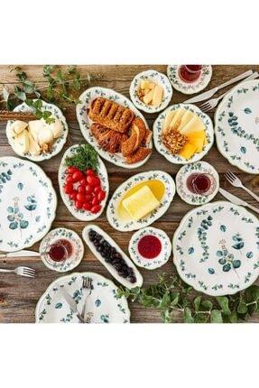 Bella Maison Ocaliptus 26 Parça 6 Kişilik Kahvaltı Takımı Yeşil 1
