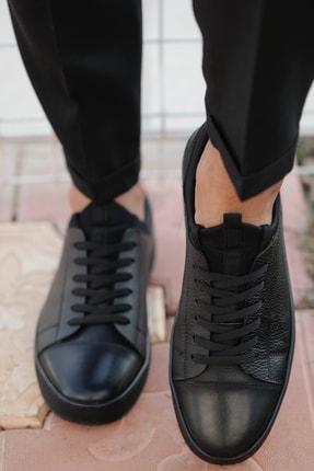 Alba Siyah Hakiki Deri Erkek Ayakkabı 3