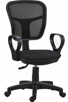HEREVİM Siyah Fileli Bilgisayar Ofis Çalışma Sandalyesi Koltuğu 0