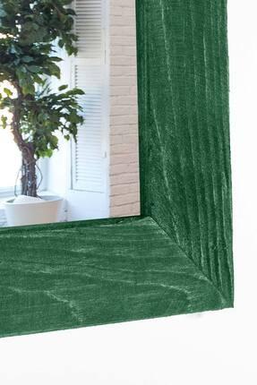 bluecape Doğal Ağaç Paris Boy Konsol Ayna Ve Yeşil Kalorifer Petek Üstü Koridor Demir Ayak Dresuar Takımı 2