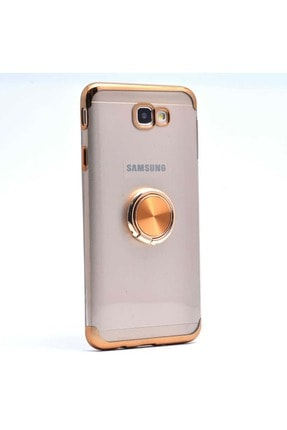 Samsung Galaxy J7 Prime Kılıf Yüzüklü Köşeleri Lazer Renkli 0