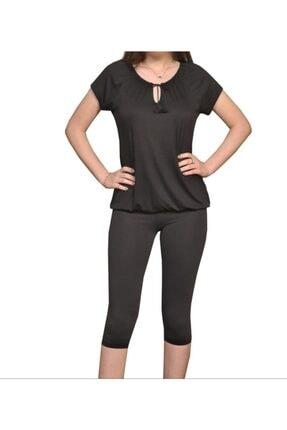 İsmet Tekstil Kadın Siyah Püsküllü Bluz 1