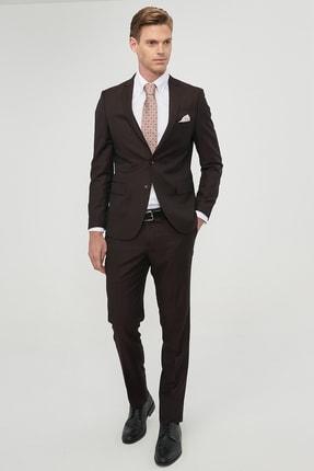 Altınyıldız Classics Erkek Bordo Slim Fit Desenli Nano Takım Elbise 2