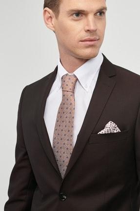 Altınyıldız Classics Erkek Bordo Slim Fit Desenli Nano Takım Elbise 4