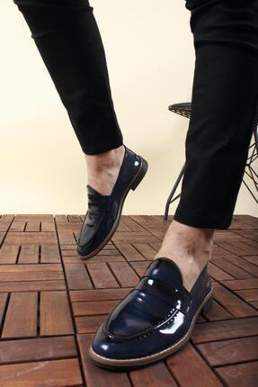 Oksit Jes Püsküllü Erkek Loafer Rugan Ayakkabı 0