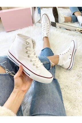 ELSESHOES Unısex Bıleklı Beyaz Spor Ayakkabı 1