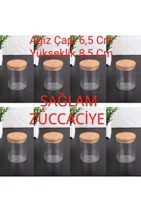 GÖNÜL Bambu Kapaklı Vakumlu Cam Kavanoz 6 Adet Gnl-bhrt 0