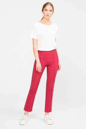 Kadın Kiremit Ütü İzli Chino Pantolon resmi